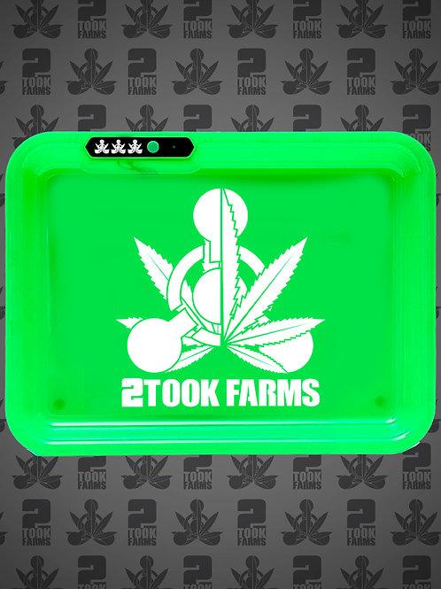 2Took Farms Hybrid Logo Rolling Tray