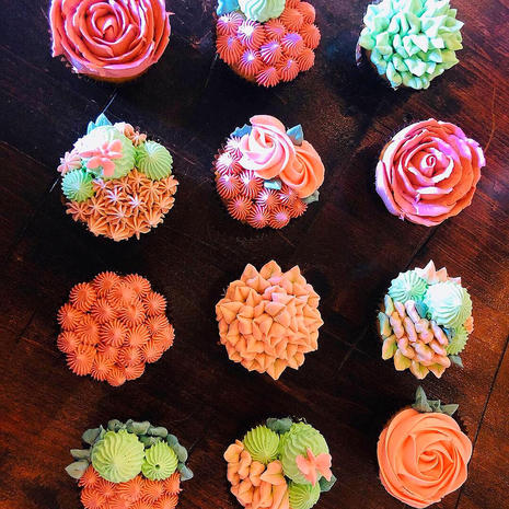 Italian Buttercream Piped Floral Cupcakes #2
