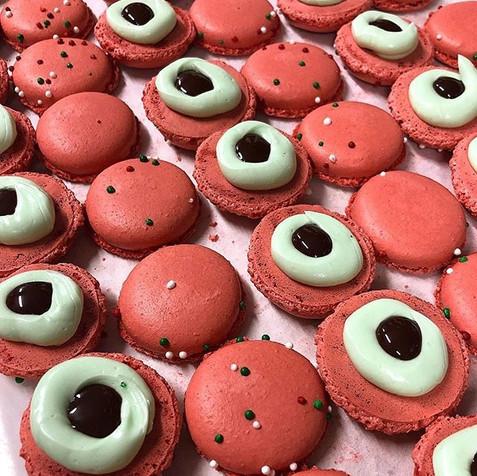 Chocolate Peppermint Macarons