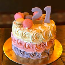 Neapolitan Buttercream Cake