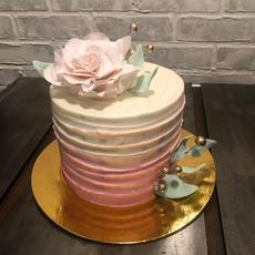 Sculpted Fondant Floral Cake
