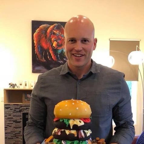 Hamburger Birthday Cake 2