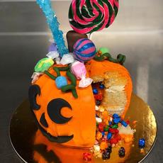 Piñata Pumpkin Buttercream Cake