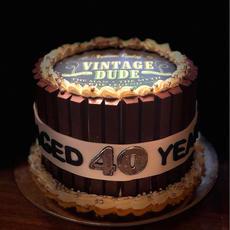 Vintage Dude Kit Kat Barrel Cake