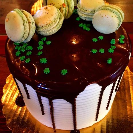 Chocolate Pistachio Buttercream Cake