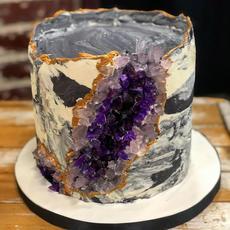 Marble Buttercream Geode Cake