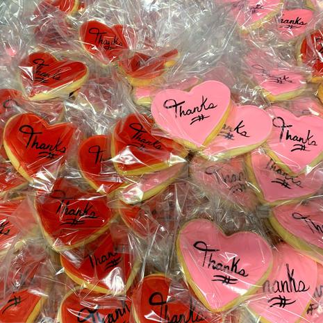 Custom Flooded Heart Cookies