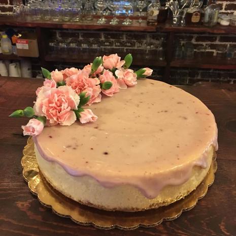 Pink Champagne Drip Cheesecake