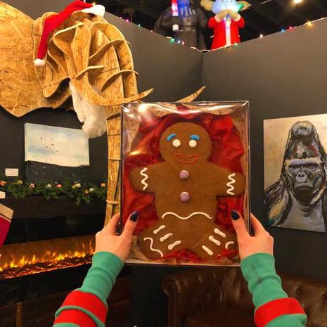 Giant Gingerbread Man Gift Box