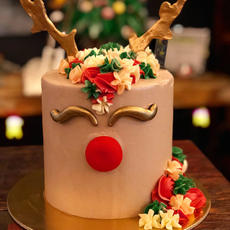 Rudolph The Red Nosed Reindeer Cake