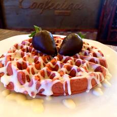 Red Velvet Belgian Waffle