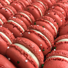 Candy Cane French Macarons