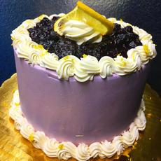 Lemon Blueberry Buttercream Cake