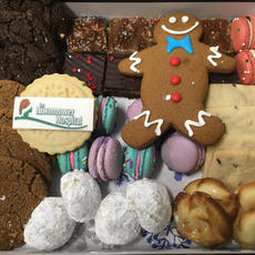 Large Corporate Christmas Cookie Box 41pc + logo