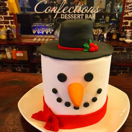 Christmas Snowman Cake
