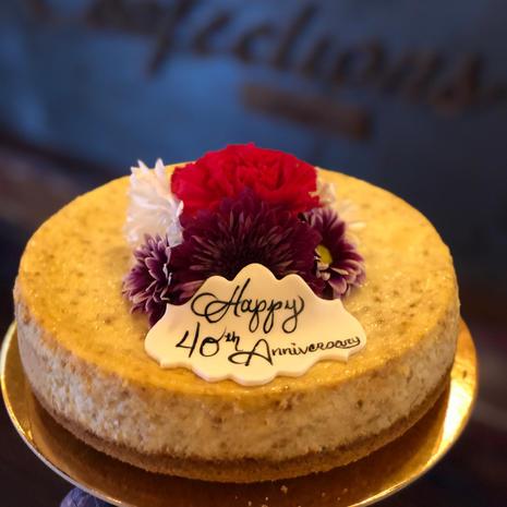 Custom Floral Arrangement Cheesecake