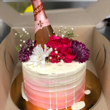 Pink Champagne Buttercream Cake
