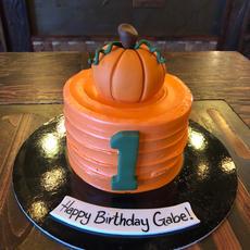 First Fall Birthday Cake