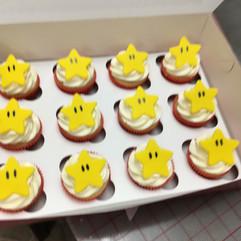 Mario Star Cupcakes