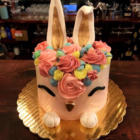 Easter Bunny Buttercream Cake