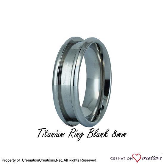 Titanium ring core Inlay blank 8 mm