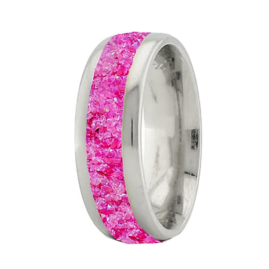 Cremation Jewelry - Ring - Heliotrope Opal  Op 60