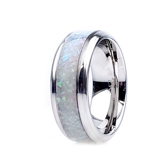 Cremation Jewelry - Ring - Multi Green Opal - OP 16