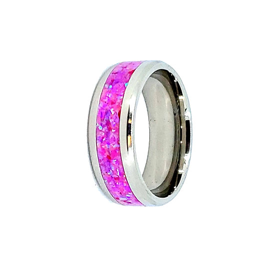 Cremation Jewelry - Ring - Orchid Opal  OP 61