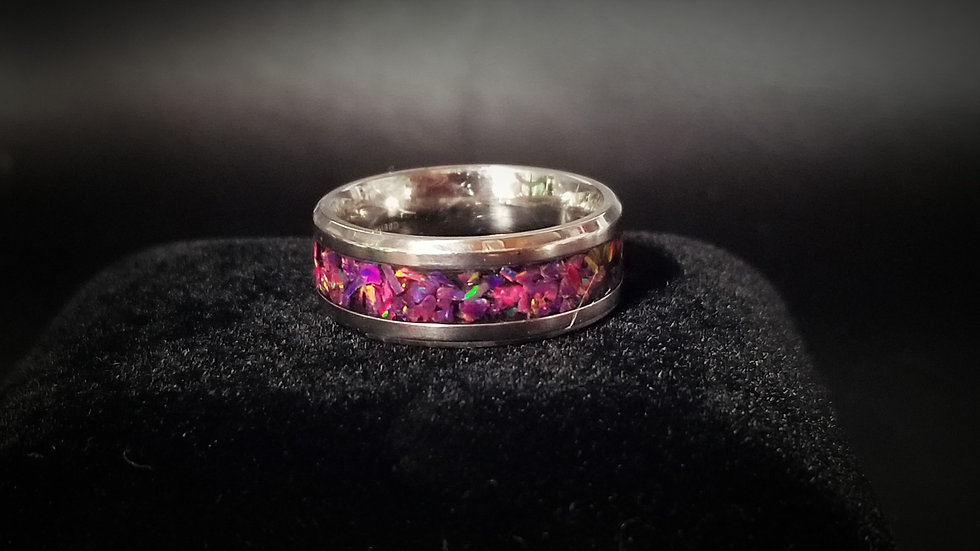 Cremation Jewelry - Ring - Royal Lavender  OP 39