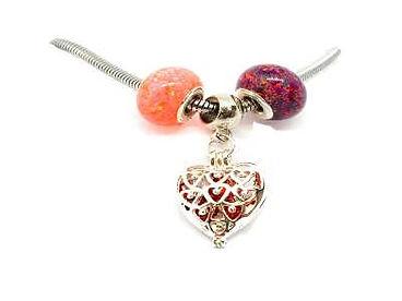 European Cremation ash bead in a pandora style pendant or bracelets