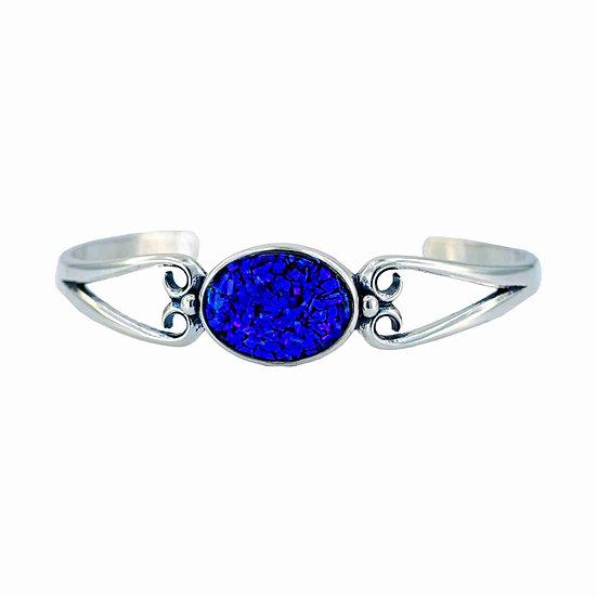 Sterling Silver Cremation Opal Bracelet