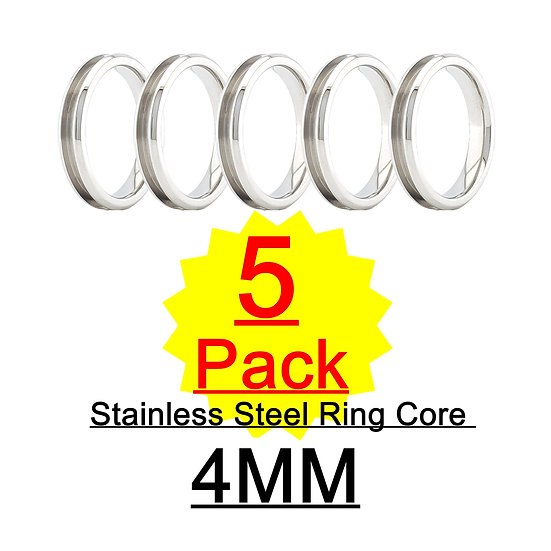 Bulk Ring Core Blanks  - 4mm  -  5 pack
