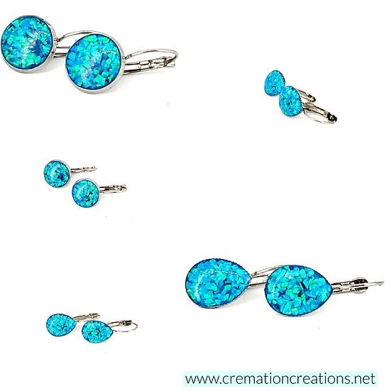 Cremation Earrings Teardrop