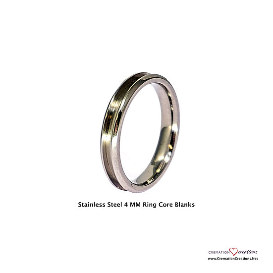 Stainless Steel Ring Core Blank  -  4mm