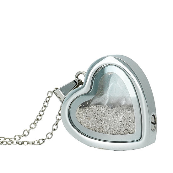 Cremation Heart Window Locket pendant