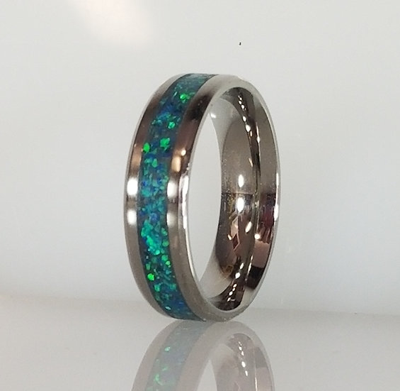 Cremation Jewelry - Ring - Peacock Blue OP 36