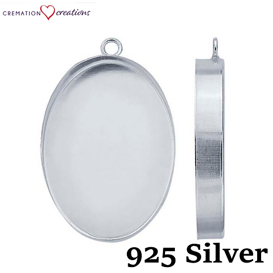 Sterling Silver Pendant Bezel 925
