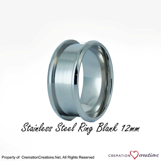 Stainless Steel Ring Core Blank  -  12mm