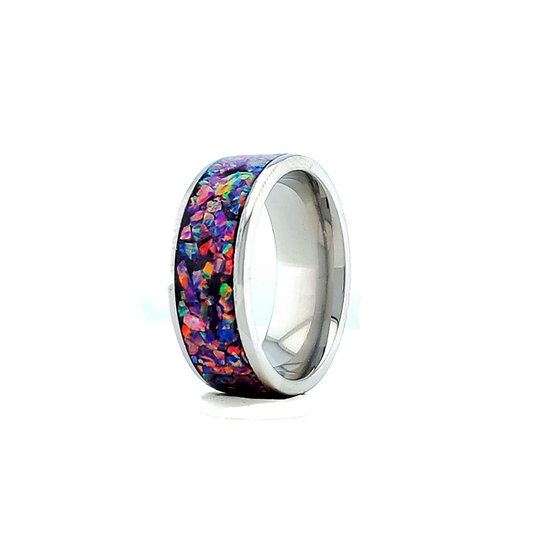 Cremation Jewelry - Ring - Black Opal #3 OP 33