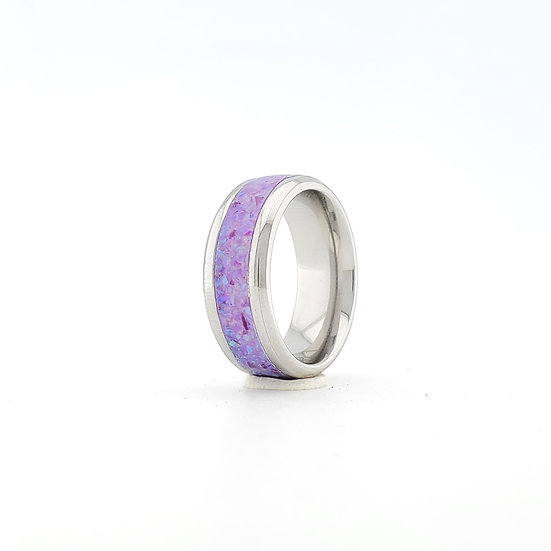 Cremation Jewelry - Ring - Multi Violet  OP 40