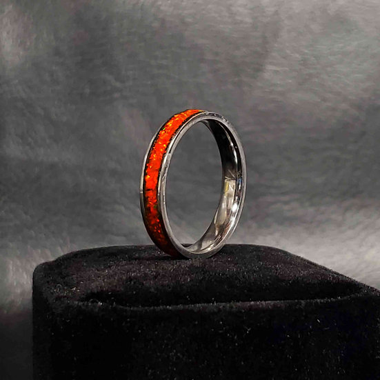 Cremation Jewelry - Ring - Alizarin Crimson OP 25