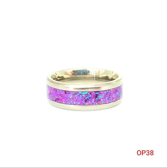 Cremation Jewelry - Ring - Multi Lavender OP 38