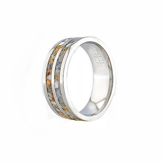 Double Channel Cremation Ring Tungsten