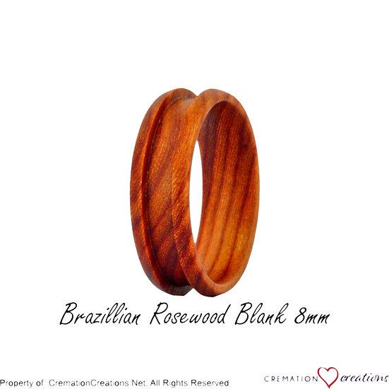 Brazilian Rosewood Ring Blank  -   8mm
