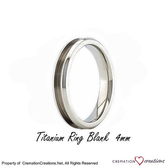 Titanium Ring Core Blank  -  4mm