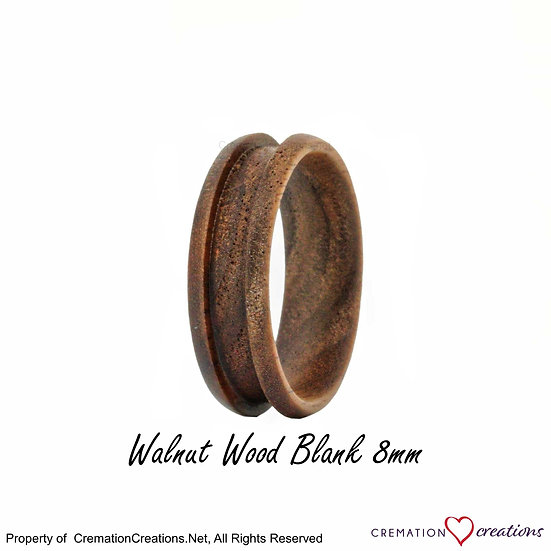 Walnut Wood Ring Blank  -   8mm