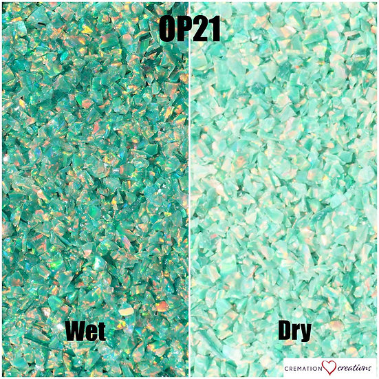 Crushed opal for inlay - Green Olive