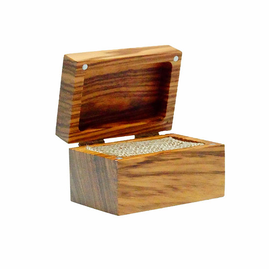 Zebrawood Ring Box