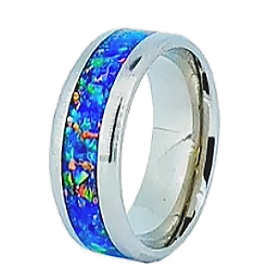 The Northern Lights Ring cremation ring.