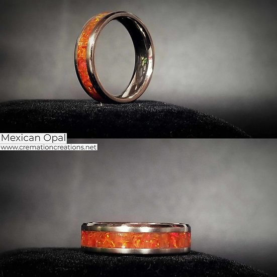 Cremation Jewelry - Ring - Mexico Opal  OP 31